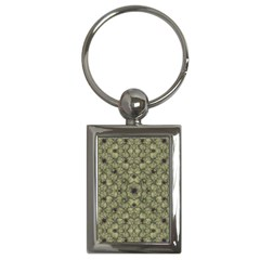Stylized Modern Floral Design Key Chains (rectangle)