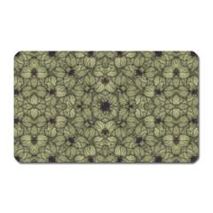 Stylized Modern Floral Design Magnet (rectangular)