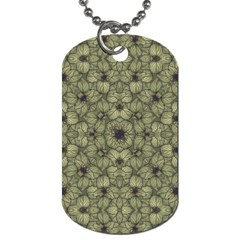 Stylized Modern Floral Design Dog Tag (two Sides)