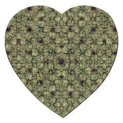 Stylized Modern Floral Design Jigsaw Puzzle (heart)