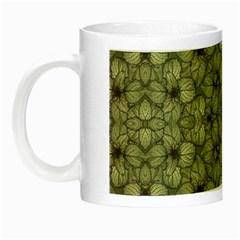 Stylized Modern Floral Design Night Luminous Mugs