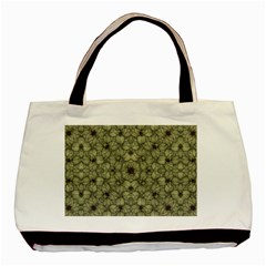 Stylized Modern Floral Design Basic Tote Bag