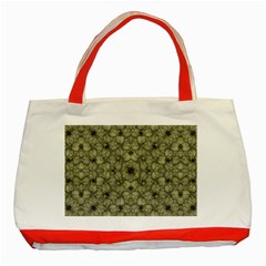 Stylized Modern Floral Design Classic Tote Bag (red)