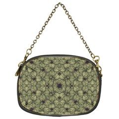 Stylized Modern Floral Design Chain Purses (one Side)