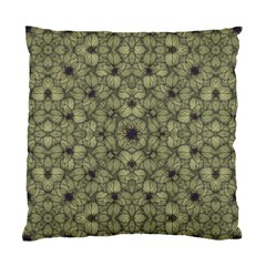 Stylized Modern Floral Design Standard Cushion Case (two Sides)