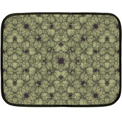 Stylized Modern Floral Design Fleece Blanket (mini)