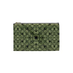 Stylized Modern Floral Design Cosmetic Bag (small)