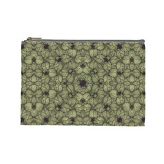 Stylized Modern Floral Design Cosmetic Bag (large)