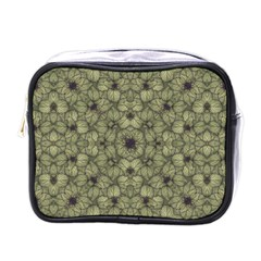 Stylized Modern Floral Design Mini Toiletries Bags