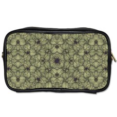 Stylized Modern Floral Design Toiletries Bags 2 Side