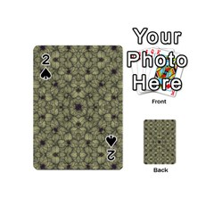Stylized Modern Floral Design Playing Cards 54 (mini)