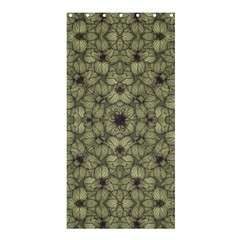 Stylized Modern Floral Design Shower Curtain 36  X 72  (stall)