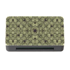 Stylized Modern Floral Design Memory Card Reader With Cf