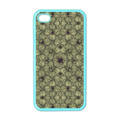 Stylized Modern Floral Design Apple Iphone 4 Case (color)