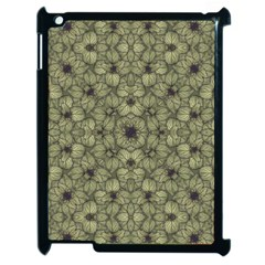 Stylized Modern Floral Design Apple Ipad 2 Case (black)
