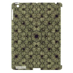 Stylized Modern Floral Design Apple Ipad 3/4 Hardshell Case (compatible With Smart Cover)