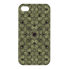 Stylized Modern Floral Design Apple Iphone 4/4s Premium Hardshell Case