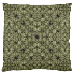 Stylized Modern Floral Design Large Cushion Case (one Side)