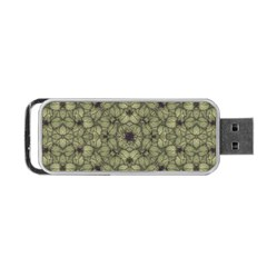 Stylized Modern Floral Design Portable Usb Flash (two Sides)