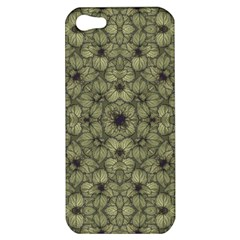Stylized Modern Floral Design Apple Iphone 5 Hardshell Case