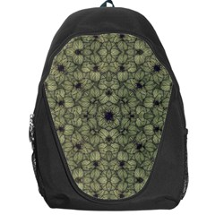 Stylized Modern Floral Design Backpack Bag