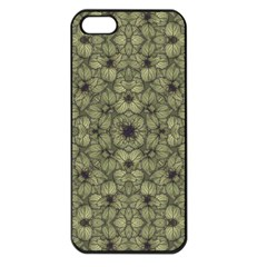 Stylized Modern Floral Design Apple Iphone 5 Seamless Case (black)