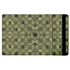 Stylized Modern Floral Design Apple Ipad 2 Flip Case