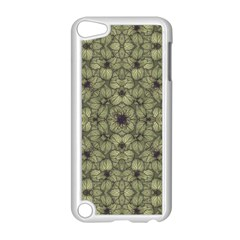 Stylized Modern Floral Design Apple Ipod Touch 5 Case (white)