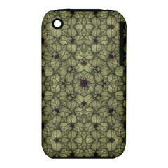 Stylized Modern Floral Design Iphone 3s/3gs