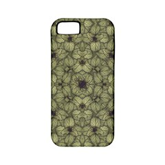 Stylized Modern Floral Design Apple Iphone 5 Classic Hardshell Case (pc+silicone)