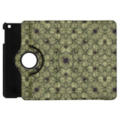 Stylized Modern Floral Design Apple Ipad Mini Flip 360 Case