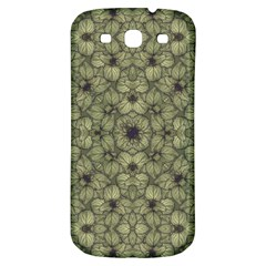 Stylized Modern Floral Design Samsung Galaxy S3 S Iii Classic Hardshell Back Case