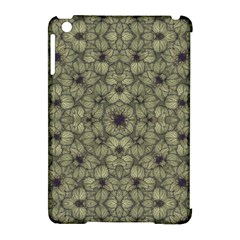 Stylized Modern Floral Design Apple Ipad Mini Hardshell Case (compatible With Smart Cover)