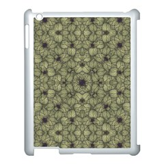Stylized Modern Floral Design Apple Ipad 3/4 Case (white)