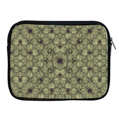 Stylized Modern Floral Design Apple Ipad 2/3/4 Zipper Cases
