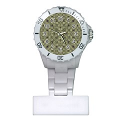 Stylized Modern Floral Design Plastic Nurses Watch