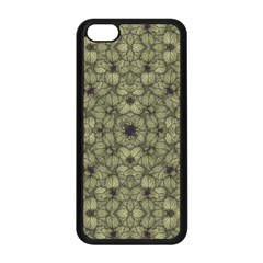 Stylized Modern Floral Design Apple Iphone 5c Seamless Case (black)