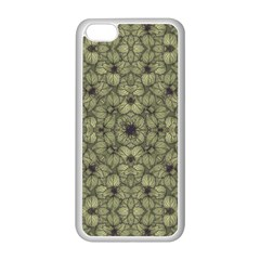 Stylized Modern Floral Design Apple Iphone 5c Seamless Case (white)