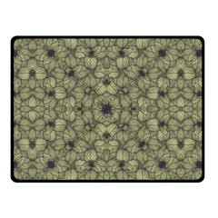 Stylized Modern Floral Design Double Sided Fleece Blanket (small)