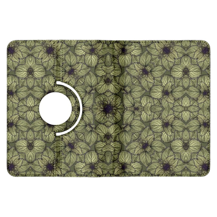 Stylized Modern Floral Design Kindle Fire HDX Flip 360 Case