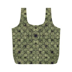 Stylized Modern Floral Design Full Print Recycle Bags (m)
