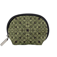 Stylized Modern Floral Design Accessory Pouches (small)