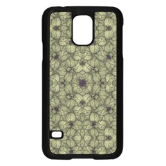 Stylized Modern Floral Design Samsung Galaxy S5 Case (black)