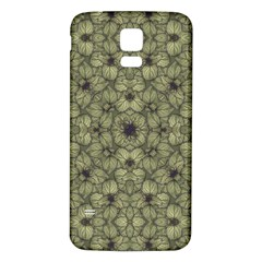 Stylized Modern Floral Design Samsung Galaxy S5 Back Case (white)
