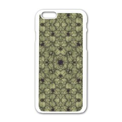 Stylized Modern Floral Design Apple Iphone 6/6s White Enamel Case