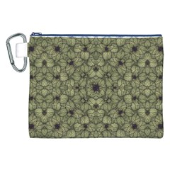 Stylized Modern Floral Design Canvas Cosmetic Bag (xxl)