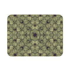 Stylized Modern Floral Design Double Sided Flano Blanket (mini)