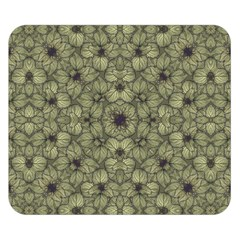 Stylized Modern Floral Design Double Sided Flano Blanket (small)