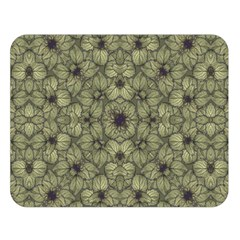 Stylized Modern Floral Design Double Sided Flano Blanket (large)