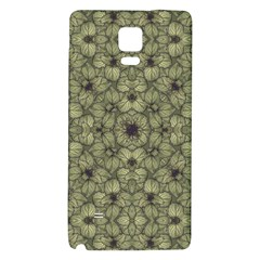 Stylized Modern Floral Design Galaxy Note 4 Back Case